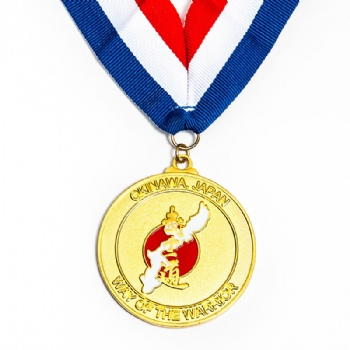 Custom represents the way of the warrior gold medal for Okinawa Japan
