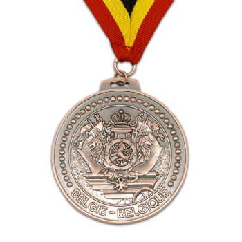 Custom zinc alloy medal for Belgie-Belgique